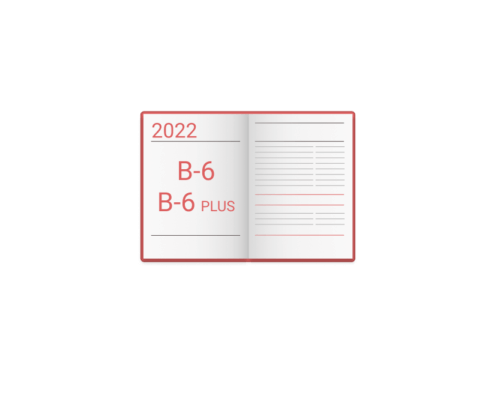 Kalendarz wg. formatu B-6 i B6 Plus