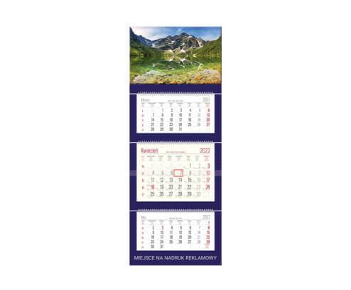 miniatura kalendarz trójdziely