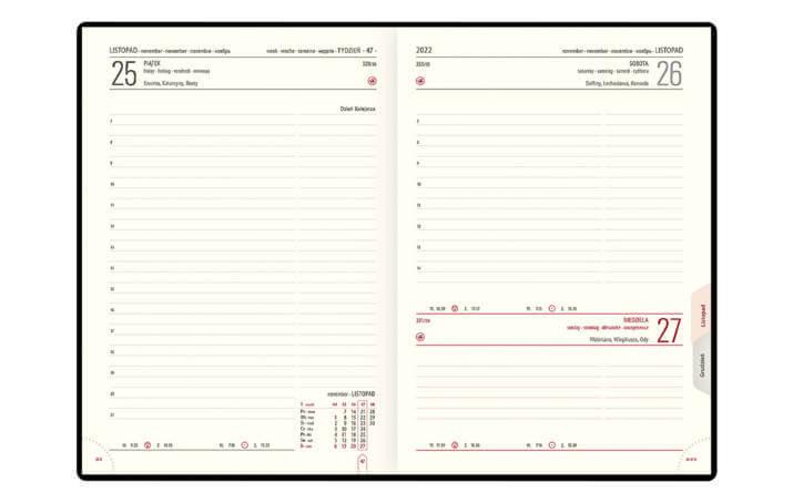 Kalendarz książkowy B-5 LUX