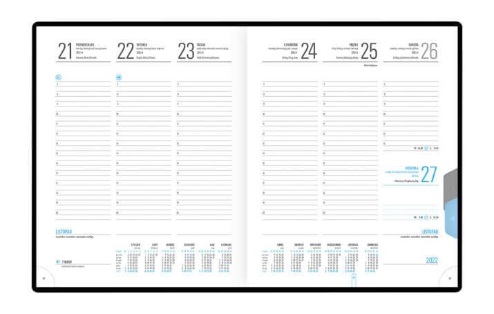 Kalendarz książkowy B-5 PLUS