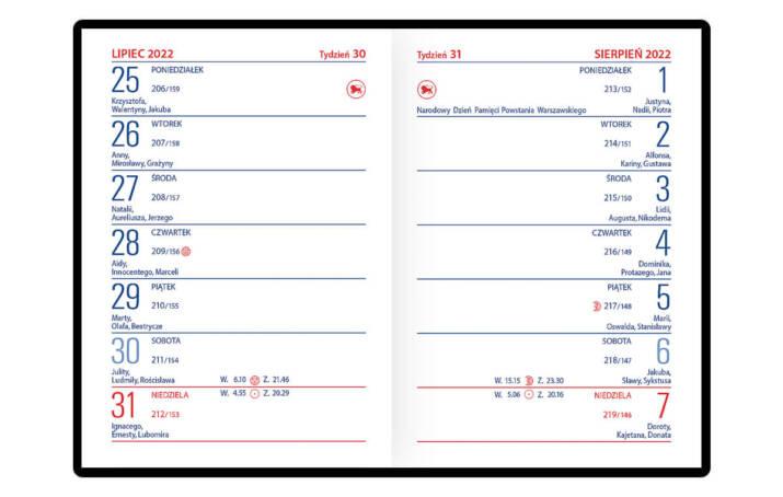 Kalendarz kieszonkowy EKO