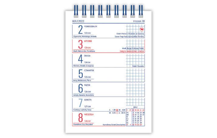Kalendarz biurowy MINI ZODIAK