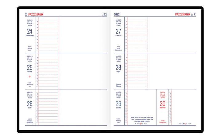 Kalendarz notesowy TENO